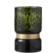 J -Line Vase Cylinder Speckled Green Black Gold - large