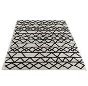 J -Line Carpet Rectangle Cotton Patterns Black - White