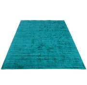 J -Line Carpet Rectangle Viscoze Solid Azure - Blue