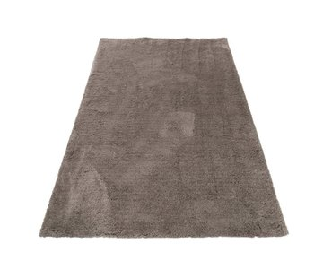 J -Line Carpet Rectangle Polyester Extra Soft - Gray