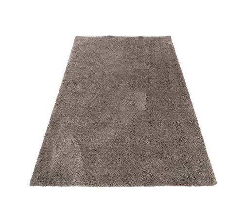 J -Line Carpet Rectangle Polyester Extra Soft - Gray