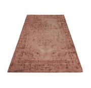 J -Line Carpet Rectangle Cotton Ethnic Pattern - Pink