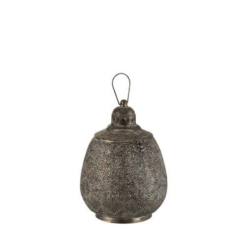 J -Line Lantern Ball Oriental Metal Black - Large
