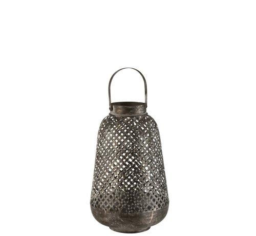 J -Line Lantern Oriental High Metal Black - Large