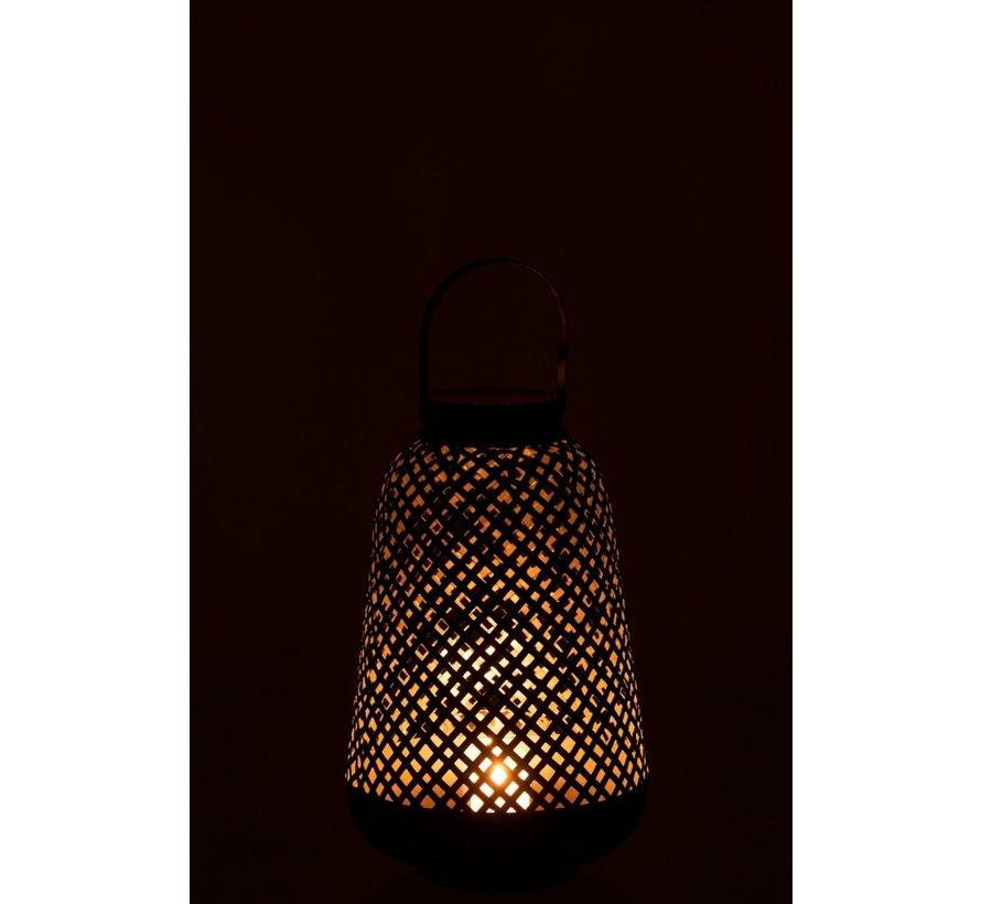 Lantern Oriental High Metal Black - Large