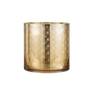 J-Line  Tealight holder Glass Oriental Gold - Large