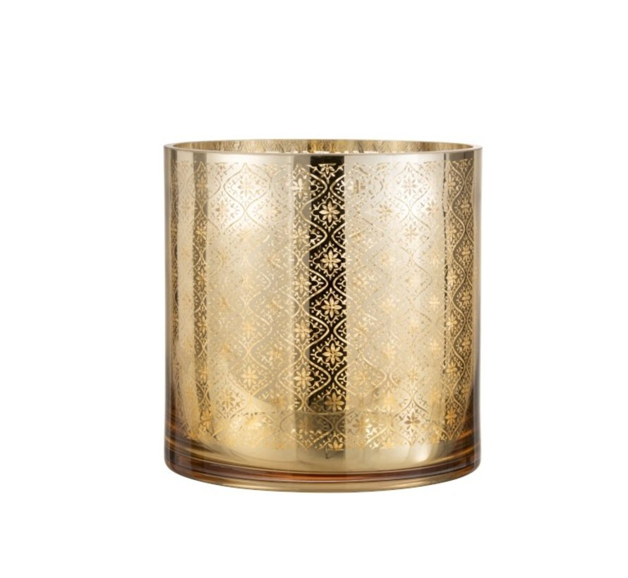 Tealight holder Glass Oriental Gold - Large