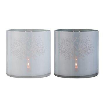 J -Line Tealight holders Glass Tree White Blue - Extra Large
