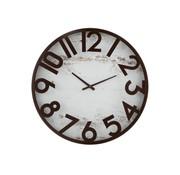 J -Line Wall Clock Round Metal Brown - White