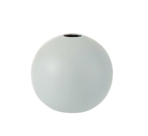 J -Line Vase Sphere Ceramic Pastel Matt Blue - Large