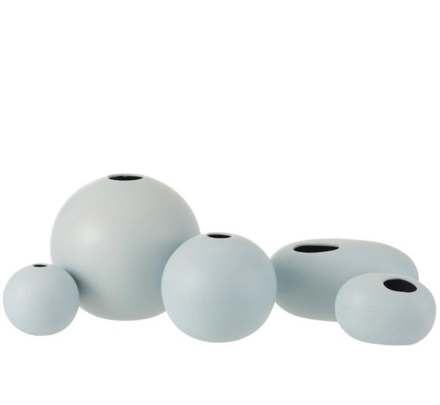 Vase Sphere Ceramic Pastel Matt Blue - Large