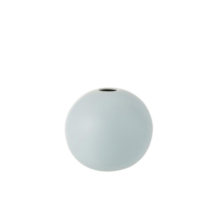 Vaas Bol Keramiek Pastel Mat Blauw - Medium