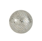 J -Line Table lamp Ball Mosaic Glass Led Silver - Large