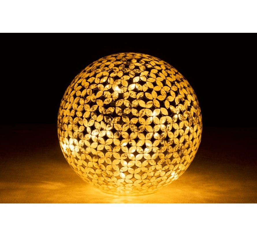 Table lamp Ball Mosaic Glass Led Silver - Large