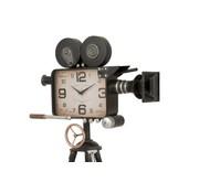 J -Line Staande klok Statief Vintage Camera Metaal - Zwart