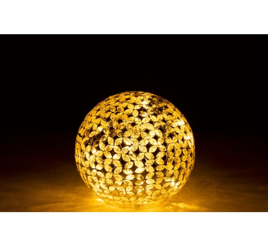 Table lamp Ball Mosaic Glass Led Silver - Small