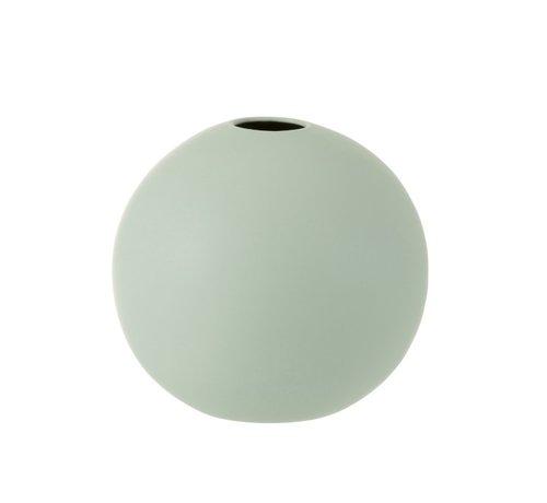 J -Line Vase Sphere Ceramic Pastel Matt Green - Large