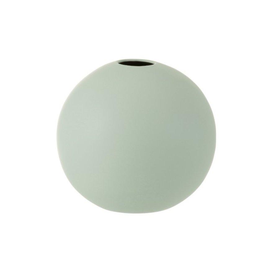 Vase Sphere Ceramic Pastel Matt Green - Large