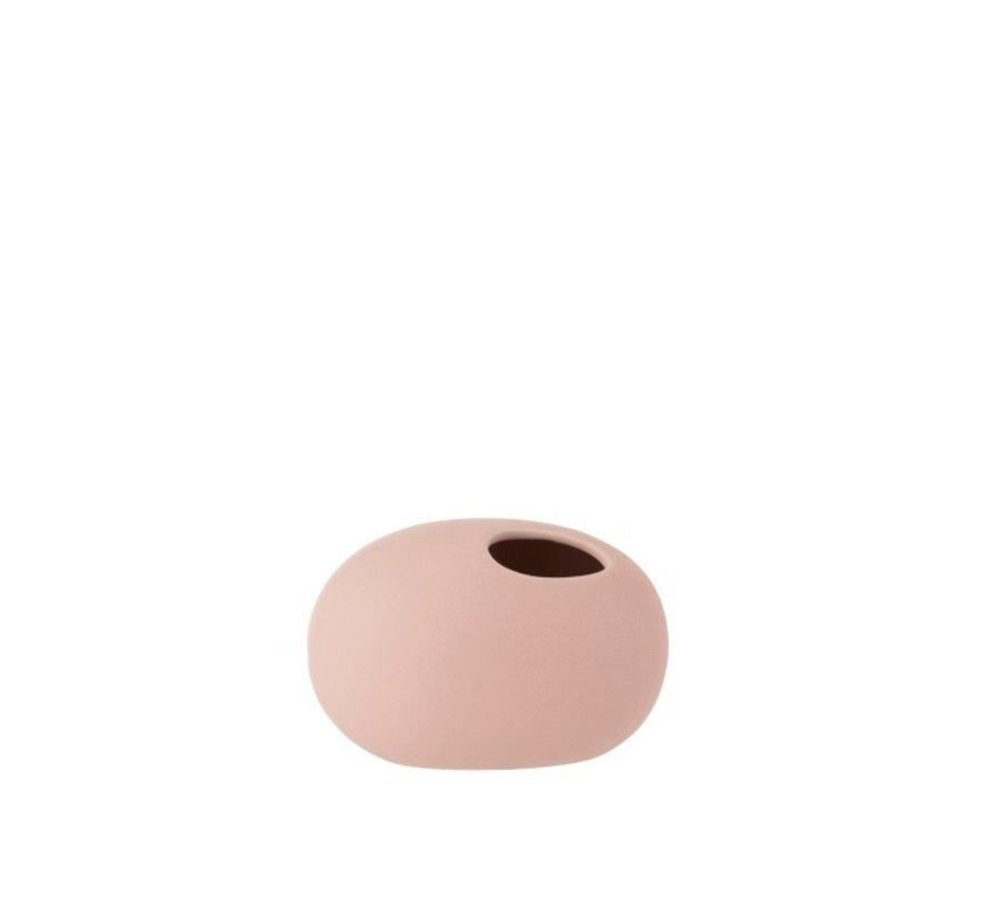Vaas Ovaal Keramiek Pastel Mat Roze - Small