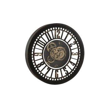 J-Line Wall Clock Round Radar  Black - Gold