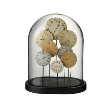 J -Line Decoration Stolp Clocks Glass Transparent Light - Large