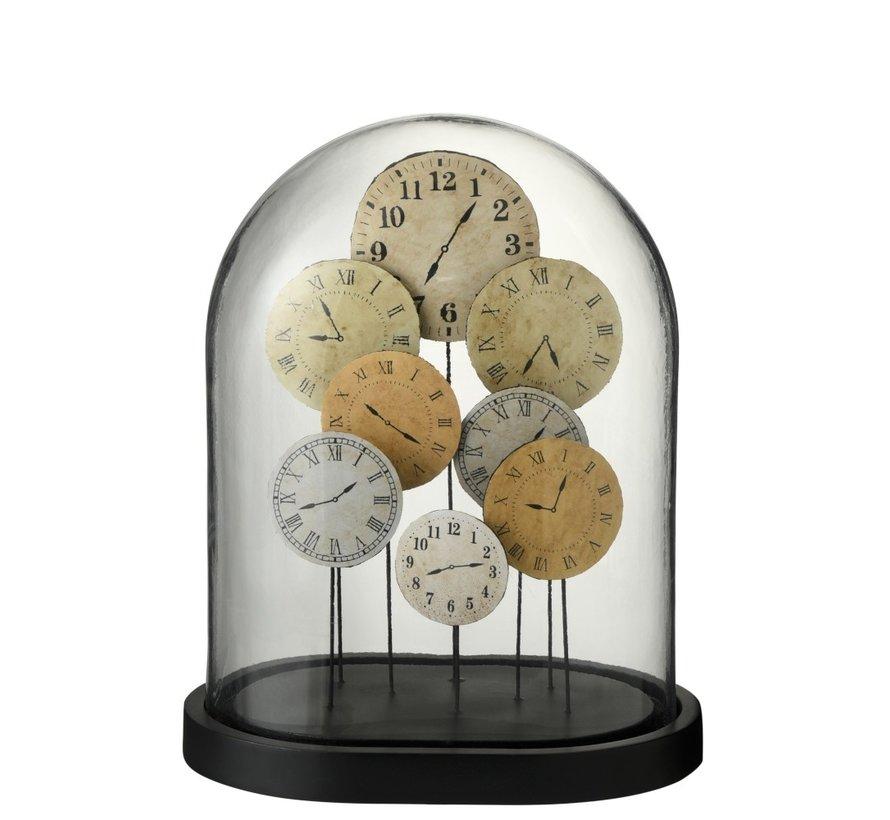 Decoration Stolp Clocks Glass Transparent Light - Large