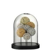 J-Line Decoration Stolp Clocks Glass Transparent Light - Small
