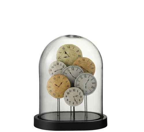 J -Line Decoration Stolp Clocks Glass Transparent Light - Small