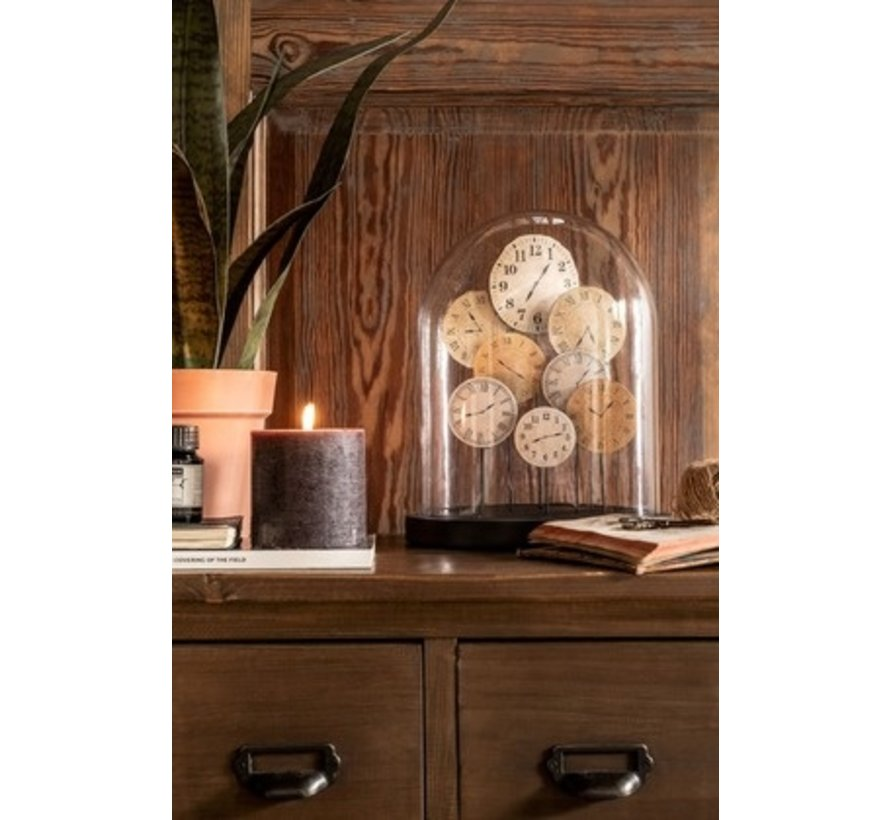 Decoration Stolp Clocks Glass Transparent Light - Small