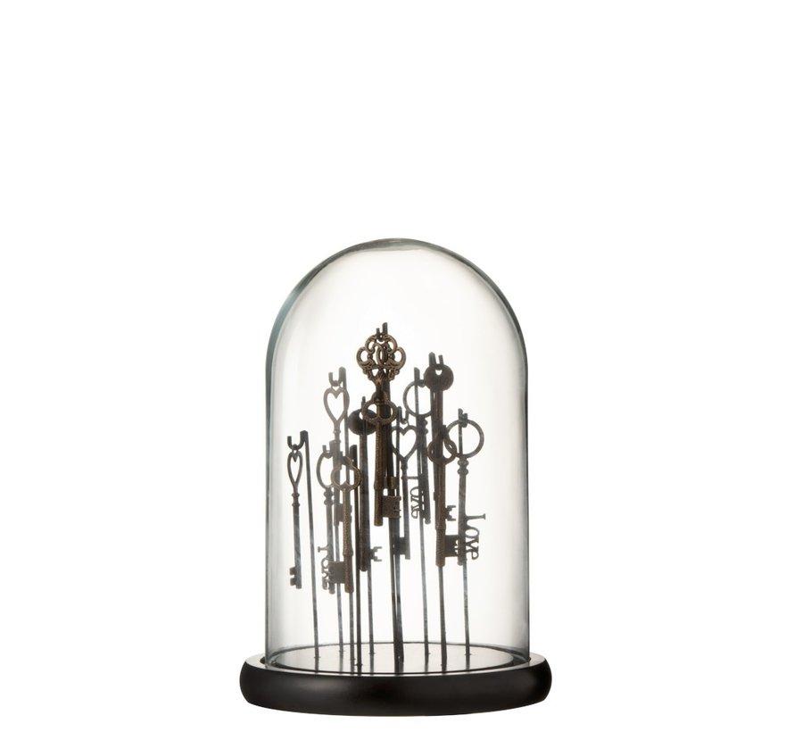 Decoration Stolp Keys Dark Transparent Glass - Small