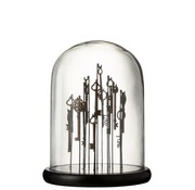 J -Line Decoration Glass Keys Glass Transparent Dark Brown - Medium