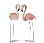 J -Line Decoratie Flamingo's Staand  Fluffy Veren Roze - Large