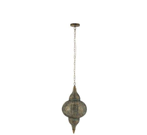 J -Line Hanglamp Oosterse Patronen Gaatjes Metaal Goud - Small