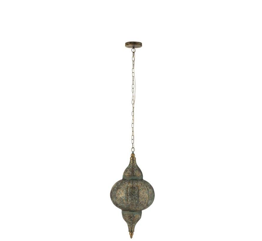 Hanglamp Oosterse Patronen Gaatjes Metaal Goud - Small