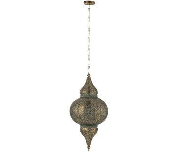 J -Line Hanging lamp Oriental Patterns Holes Metal Gold - Large