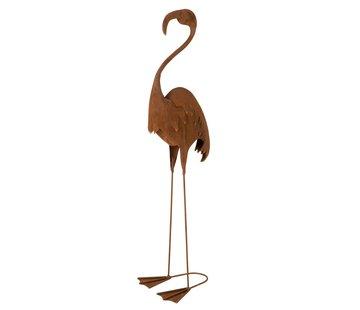 J -Line Decoratie Flamingo Staand Metaal Roest - Large