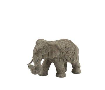 J-Line Decoration Elephant Indian Magnesium Gray - Small