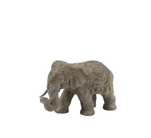 J -Line Decoration Elephant Indian Magnesium Gray - Small