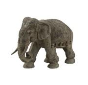 J-Line Decoration Elephant Indian Magnesium Gray - Large