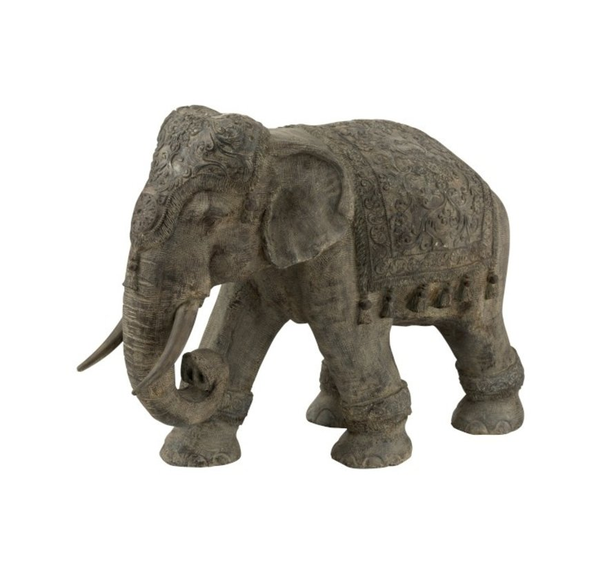 Decoration Elephant Indian Magnesium Gray - Large