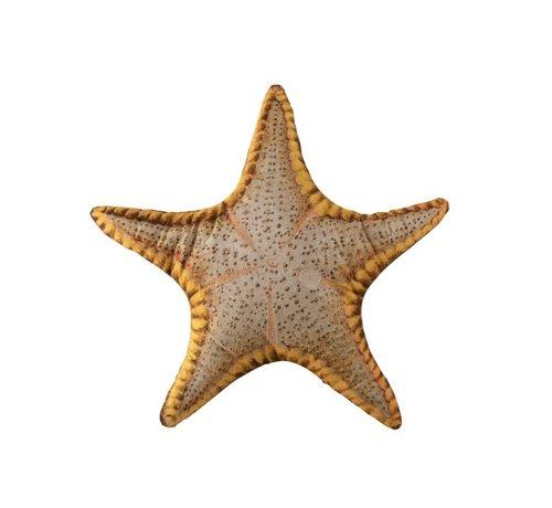 J -Line Pillow Starfish Polyester Mix Ocher - Gray