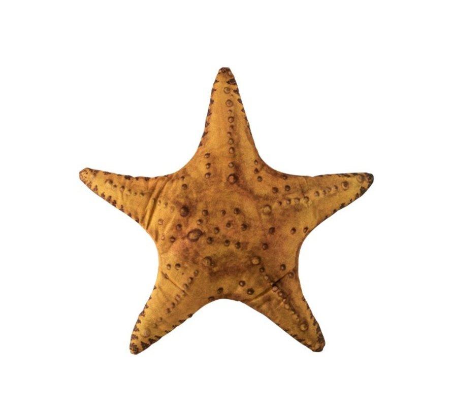 Pillow Starfish Polyester Mix Ocher - Gray