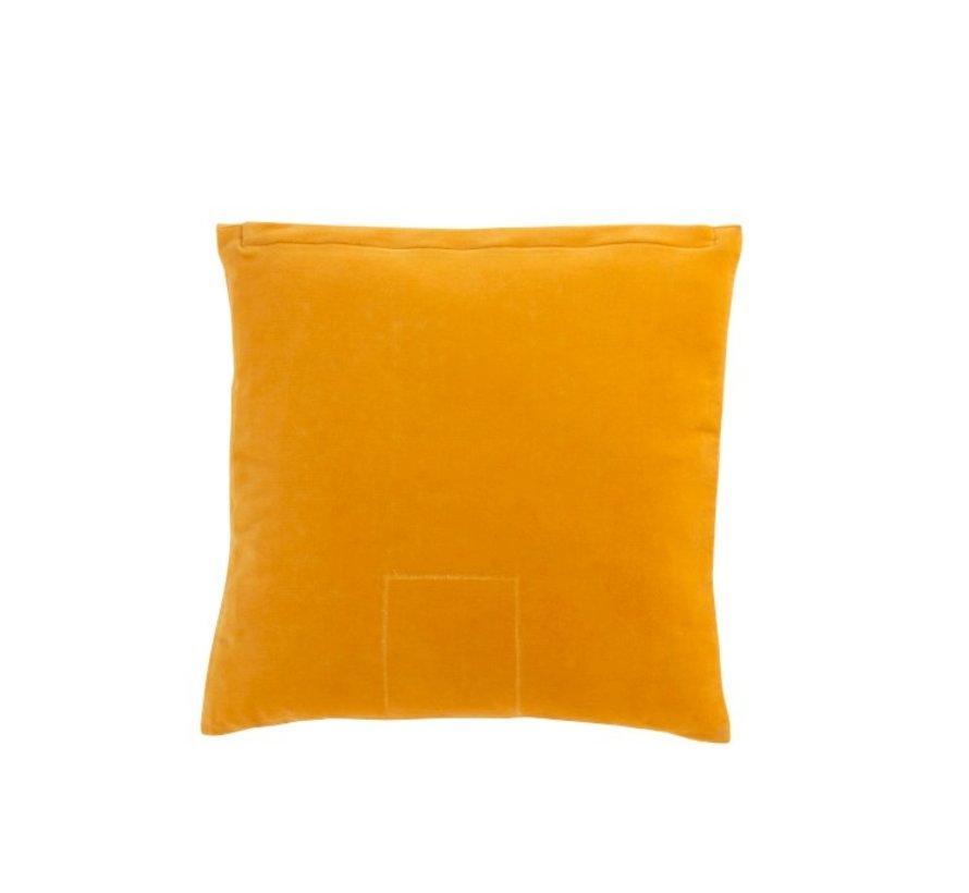 Kussen Vierkant Spiegels Patronen Velvet Oker - Geel