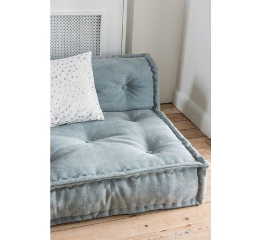 Pillow Rectangle Mirror Drops Velvet - Light Blue