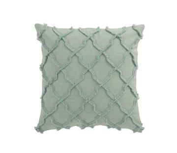 J-Line  Cushion Square Cotton Wavy Diamonds - Mint