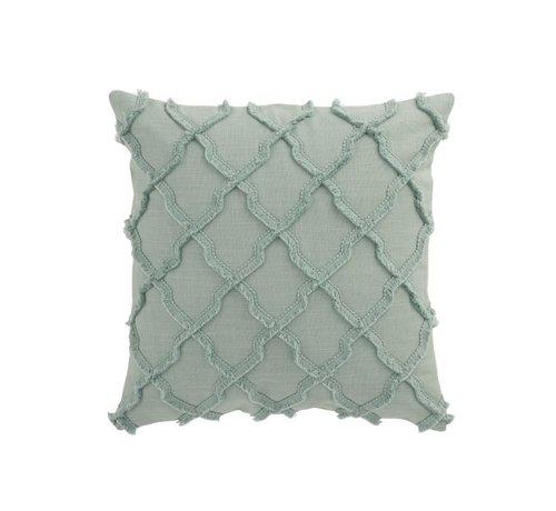 J -Line Cushion Square Cotton Wavy Diamonds - Mint