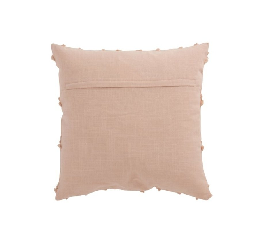 Kussen Vierkant Katoen Golvende Ruiten - Roze