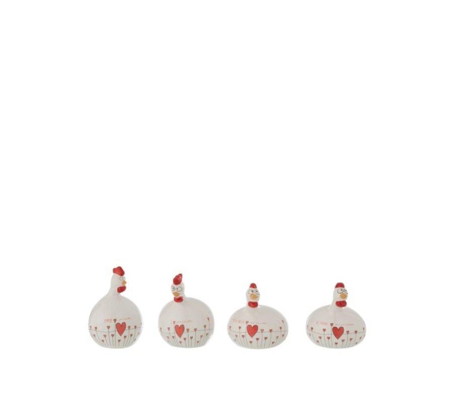 Ceramic chickens Valentine Small