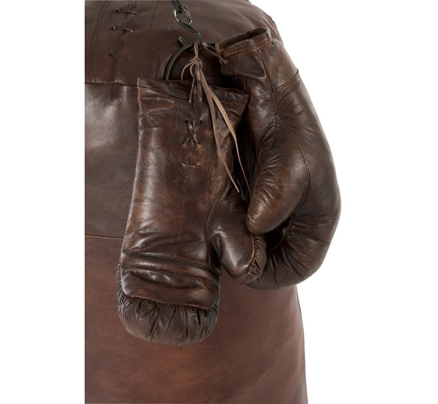 Decoration Boxing Gloves Leather - Dark Brown