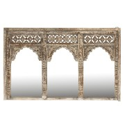 J -Line Wall Mirror Rectangle 3 Piece Morocco Mango Wood Washed - White